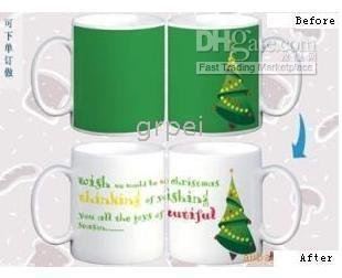 Christmas Gift 0212 Coffee Cup Cups Color Colour Changinging Change Mug Mugs Porcelain Drinking(China (Mainland))