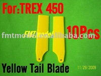 F00697-5 5Pairs Yellow Tail Blade Blades , ALIGN TREX T-REX 450 PRO SPORT SE V2 XL S Rc Helicopter Heli + Free shipping