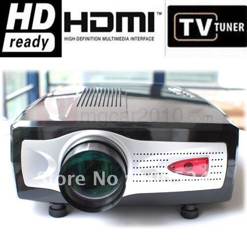 OMGCAR LED Projector Portable Mini HOME Cinema HDMI VGA S-Video HD DV factory wholesale 640*480,support 800*600 1080i