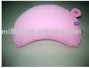 inflatable pillow inflatable neck pillow travel neck pillow 10pcs/lot(China (Mainland))