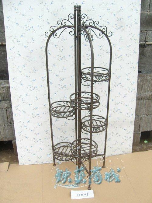 artesanato no jardim : artesanato no jardim:Artesanato-de-ferro-decoração-de-jardim-decoração-4-tiers-estante