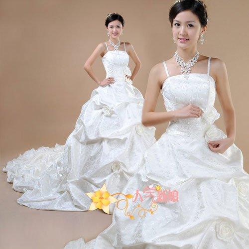 Beautiful Bride long tail wedding dress(China (Mainland))