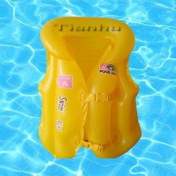 Free shipping Wholesale 50pcs/lot 45cm Inflatable life jacket for children. Baby air jacket, life vest, floatation jacket