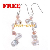 Free Shipping Fashion&Charm Freshwater Pearl Earrings