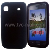 DHL Free Shipping 100Pieces/Lot Wholesale Brand New For Samsung Galaxy S i9000 Silicon Case(MSC-I9000-B)