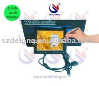 "8"" Desktop Touch Screen VGA AV Monitor for home/car using+Drop Shipping Support!"