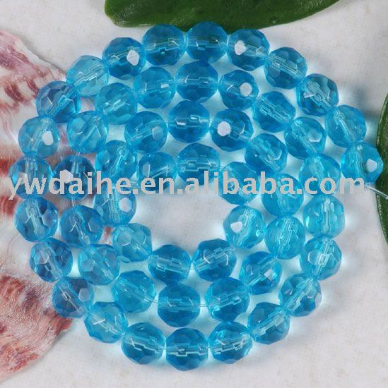 CZECH FIRE SKY BLUE GLASS ROUND FACETED LOOSE Beads