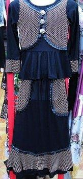 kids abaya,Tailored abaya,Muslim abaya,Fashion child abaya,Child muslim clothes,k187
