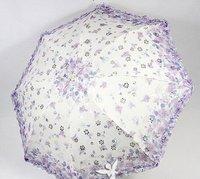 Wholesale - genuine sweet lady fox Folding umbrella gift Umbrellas