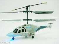 Free shipping New 3CH RC helicopter with lights Mini Indoor Air Wolf Co-Axle RTF Palm Size Helicopter toy 6pcs/lot