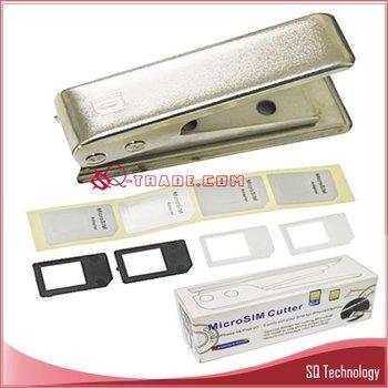 10pcs/lot Micro Sim Card Cutter + 4pcs Sim Adapter for  iPhone  4G iPad free shipping