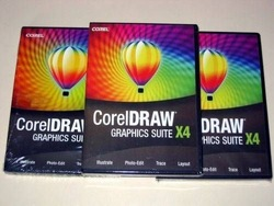 free shipping 1pcs Corel Draw Coreldraw X4 Graphic Suite - English version(China (Mainland))
