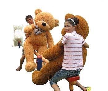 "5.92 FEET TEDDY BEAR STUFFED LIGHT BROWN GIANT JUMBO 70"""