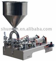 (Free Shipping) Compact double-head Paste Filling Machine ( piston two-head  filler for cream, jam , sauce, grease )
