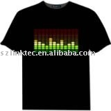 2013 Novelty product el t-qualizer t-shirt el tshirt(China (Mainland))