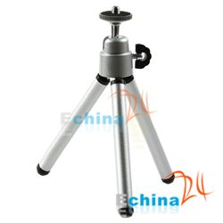 Silver Tripod Portable Stand for Canon Nikon Camera DC DV Wholesale and Free Shipping 300 pcs