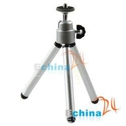 Silver Tripod Portable Stand for Canon Nikon Camera DC DV Wholesale and Free Shipping 300 pcs