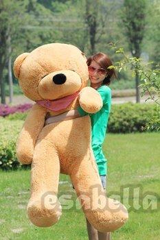 "160CM GIANT HUGE BIG SOFT PLUSH SLEEPY TEDDY BEAR 63"""