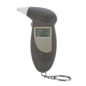 12PCS/lot Free shpping Small Digital Alcohol Tester Breathalyzer Digital Alcohol Tester (Dark gray color)