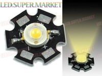 200pcs  Warm White 3W LED Lamp Prolight Star High Power LED