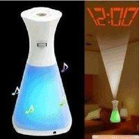 bottle shape LED shadow Clock free shipping
