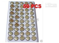 Free Shipping Selling By 50pcs/Lot AG13 Button Coin BATTERY LR44 SR44 303 357 A76 G13