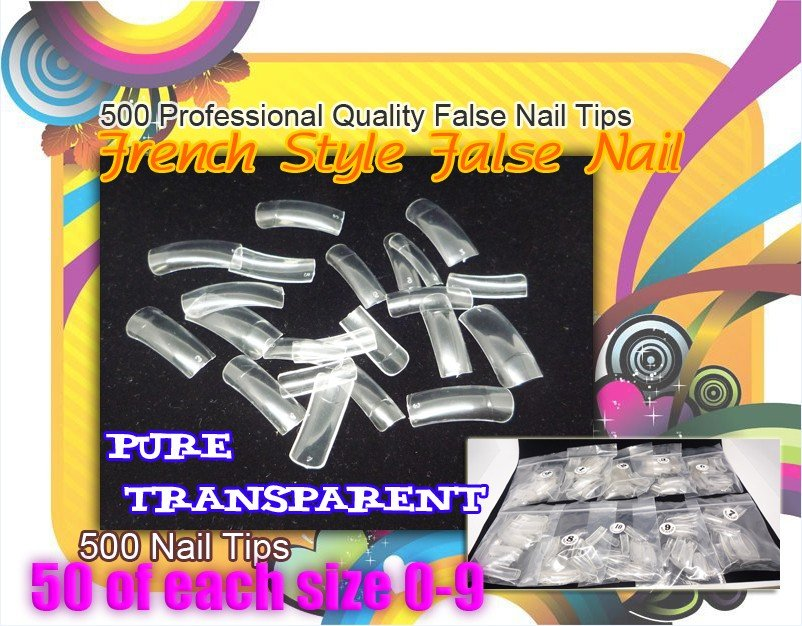 Free Shipping  NO.382  Acrylic Nail Art pre designed nail tips/ Designe Nail Tips 600 styles available 70pcs/set