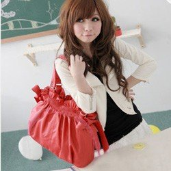 Red Women's Tote Shoulder Handbag Bag Purse PR1035GR(China (Mainland))
