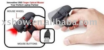 New Mini USB 3D Optical Finger Mouse Mice For Laptop PC Free Shipping