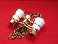 Free shipping --wholesale 3x25 Opera/Theater Glasses Brass Binoculars Coated Lens