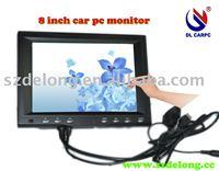 """8""""  VGA monitor,LCD touch monitor for car pc,port hongkong"""