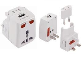 World Travel Adapter with USB Charging Port / Surge Protection