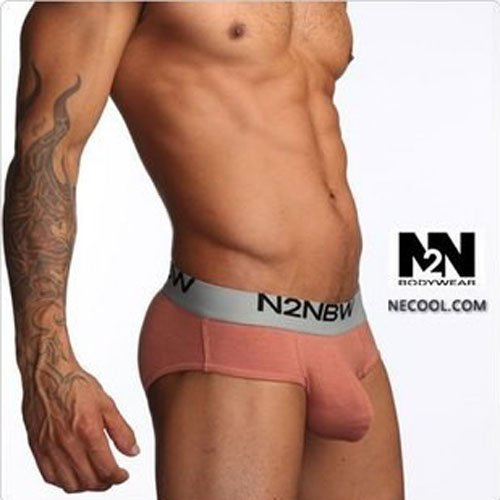 N2N:Free Shipping men's underwear low rise sexy triangle (brown): N2N097-55(China (Mainland))