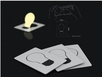 GLOBAL HOT-SALE Portable Pocket LED Card Light Lamp put in Purse Wallet SK002-8 Promotional Price
