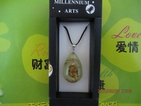 women jewelry insect amber pendant necklace halloween gift freeshipping