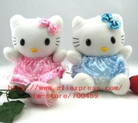 Wholesale - Hot sale! lots 24pcs hello kitty Children's lovely doll soft Toy Plush Toys A7 +Free Shipping