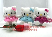 Wholesale - Hot sale! lots 48pcs hello kitty Children's lovely doll soft Toy Plush Toys A6 +Free Shipping