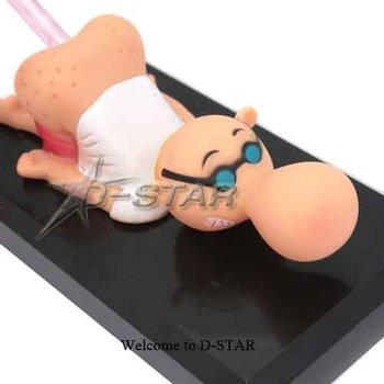 Free Shipping Funny Bald Men Pen Holder Animated Penholder Gag Gift