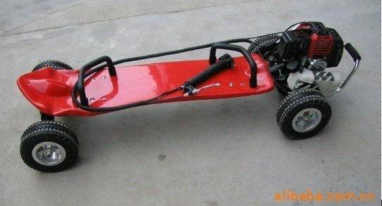 Gas skateboard petrol motor scooter 49cc motorized skateboard red color Brand New Australia,New Zealand EMS Free Shipping!(China (Mainland))