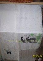 silk bamboo-playing Panda scarves
