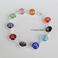 hot sales/Turkish  glass blue evil eye bracelet mix color luckey eye multi color turkey