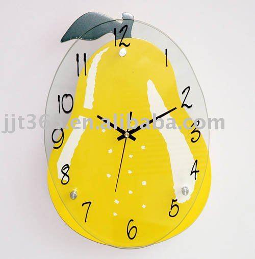 Novelty fruit wall clock promotion clock kitchen clock