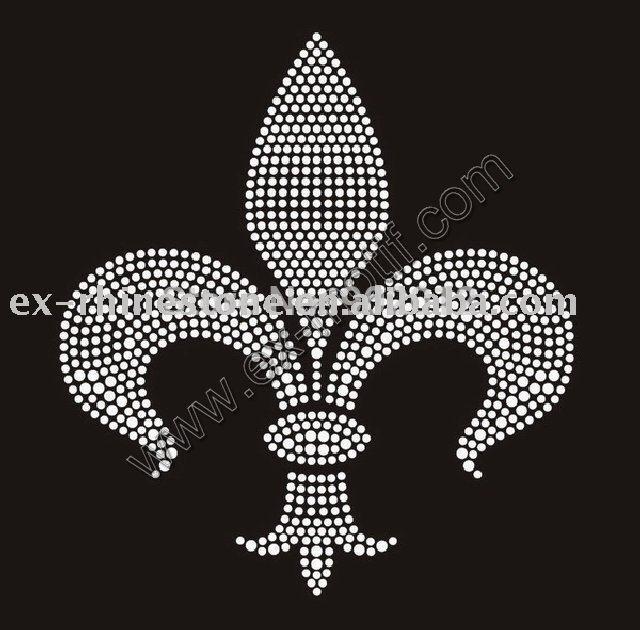 Buy Rhinestone Appliques Fleur de Lis Design rhinestone motif