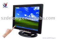 "2011 new style Wholesal+12.1"" touch screen monitor LCD VGA monitor"