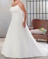 Free Shipping Specialized Design Plus Size Wedding Dresses/Custom-made Wedding Dress