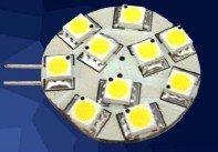 LED G4 light;10pcs 5050 SMD LED;2W;DC12V input