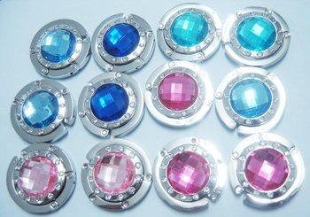 Free shipping!!! 100% guaranteed quality ,12 pcs foldable bag hook edge with 12pcs little stones
