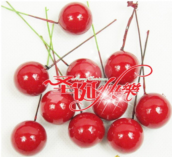 christmas items christmas tree decoration fruits christmas favor 200pcs/lot +free shipping(China (Mainland))