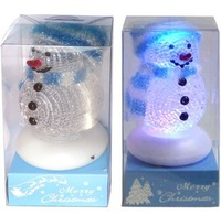 7 colors led light USB Snow Man ,USB gift ,Christmas gift,10 pcs/lot,free shipping