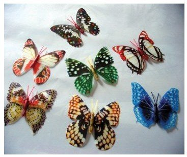 wholesale and retail Pin Noctilucent Butterfly luminous butterfly Cute butterfly decoration butterfly hot sale Free shipping(China (Mainland))